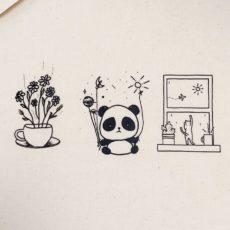 Panda cica vászon táska totebag