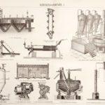 Szeszgyártás eredeti antik nyomat A3