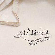 bálna kemping vászon táska totebag