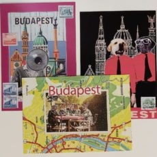 3 darabos Budapest kollázs képeslap csomag 1
