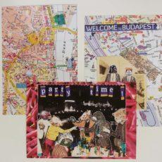 3 darabos Budapest kollázs képeslap csomag 2