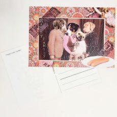 Boldog család designer kollázs képeslap