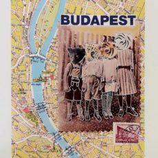 Budapest Beasts designer kollázs nyomat