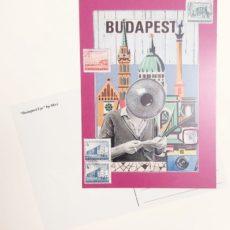 Budapest Eye designer kollázs képeslap
