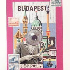 Budapest Eye designer kollázs nyomat