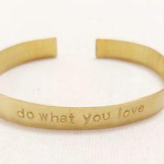 Do what you love réz karkötő