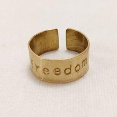 Freedom feliratos réz gyűrű