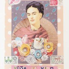 Frida Viva la vida designer kollázs nyomat