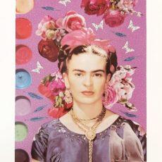 Frida galambokkal designer kollázs nyomat