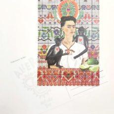 Frida mindörökké designer kollázs képeslap