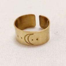 Hold réz gyűrű