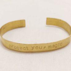 Protect your magic réz karkötő