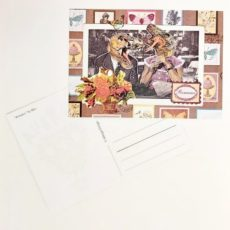 Románc designer kollázs képeslap