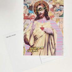 Super Hero designer kollázs képeslap