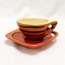 Tófej retro eszpresszó készlet csésze + alj