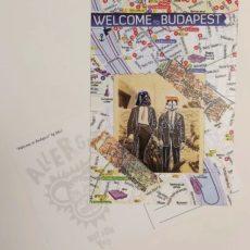 Welcome to Budapest designer kollázs képeslap