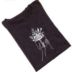 Könyv virág (bookworm) póló fekete