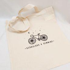 Kerékpár vászon táska totebag