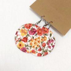 Nagyon virágos textil fülbevaló maxi