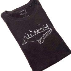 Bálna kemping (whale) póló fekete