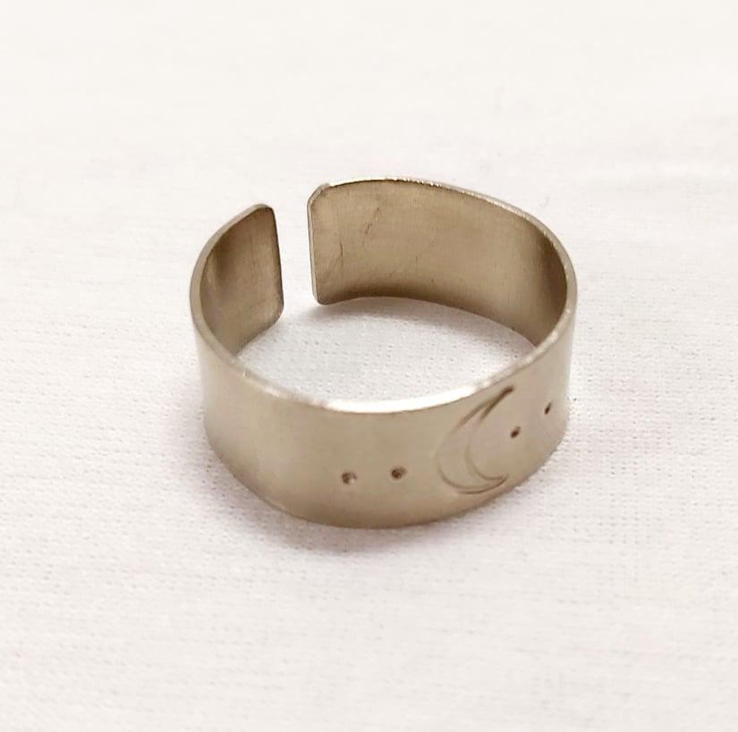 Hold gyűrű alpakka állítható
