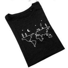 Kirándulás (world camp) póló fekete