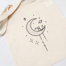 Kis herceg holdon (moon prince) táska fehér