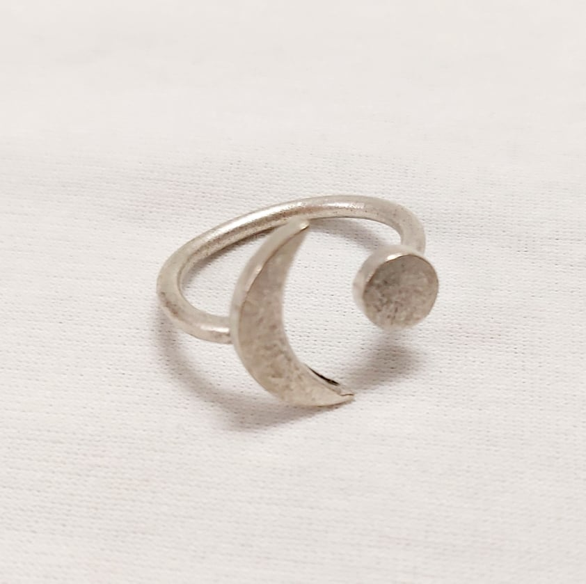 Kozmosz gyűrű ezüstözött