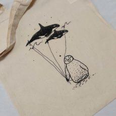 Pingvin bálna lufi táska
