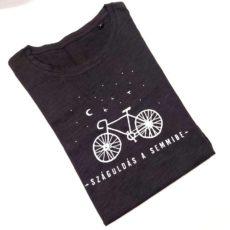 Száguldás a semmibe (kerékpár) póló fekete